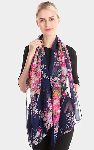 The Best Floral Print Chiffon Scarves