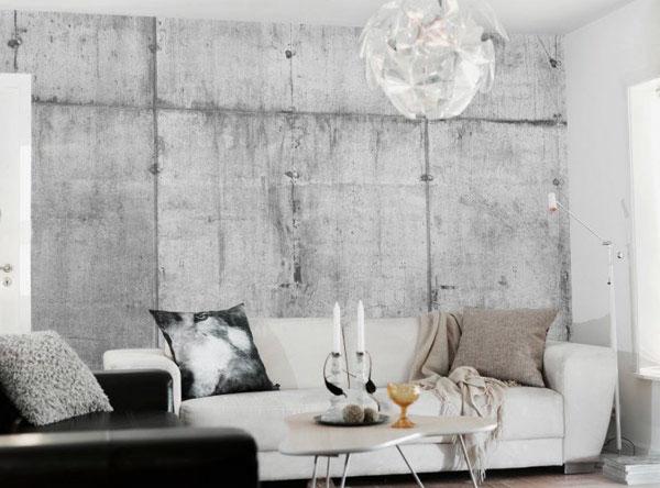 betong tapet vardagsrum fototapet betongvägg betongtapeter