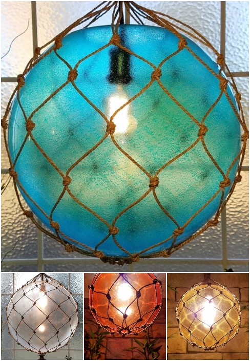 Light Frosted Glass Globe Rope Hanting Pendant Lights Colors Colorful