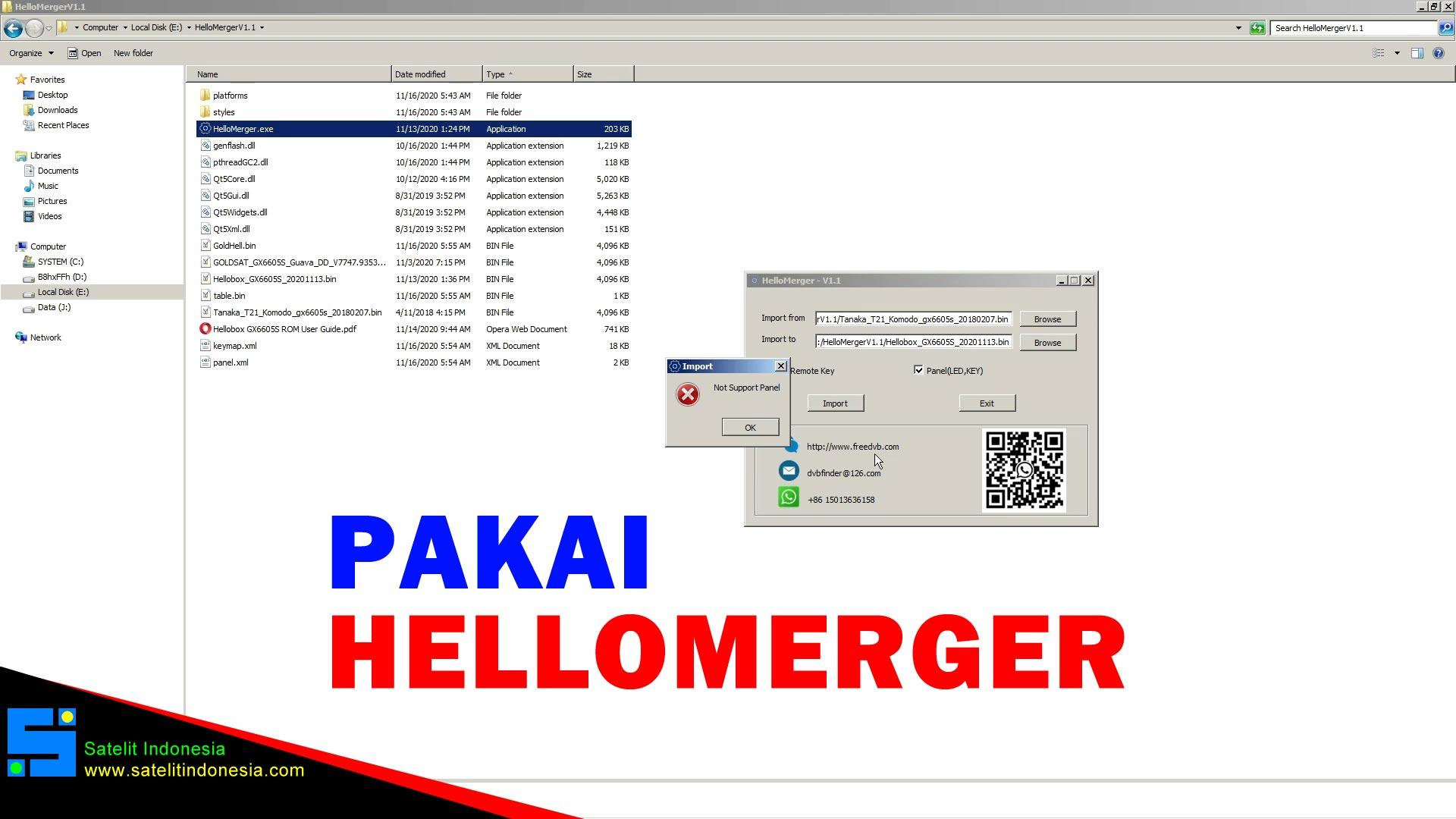 Cara Menggunakan Hello Merger Untuk Edit Remote GX6605S