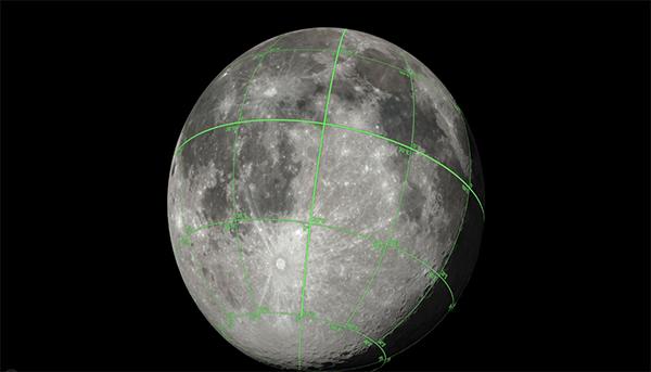 وكالة ناسا تطلق خريطة ثلاثية الأبعاد للقمر
