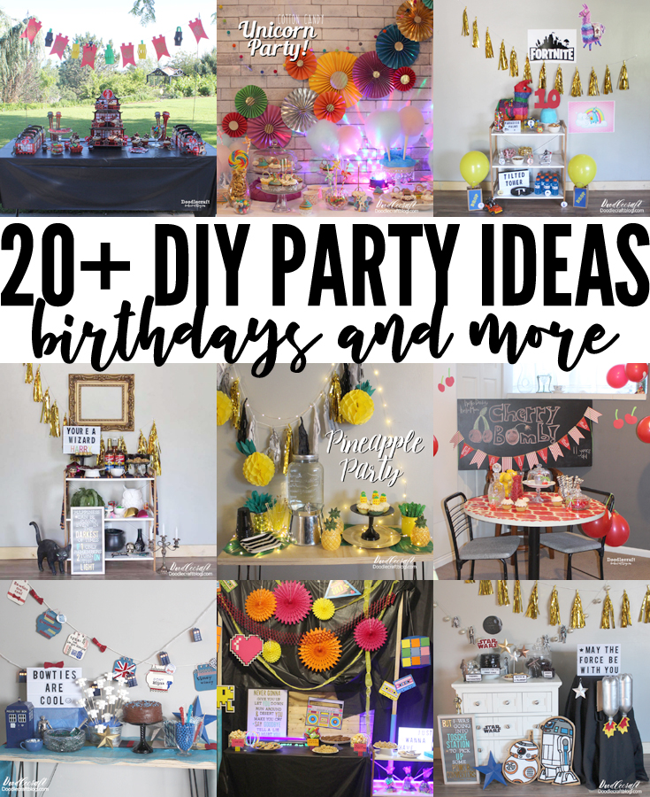 20 Diy Birthday Party Ideas For 2019
