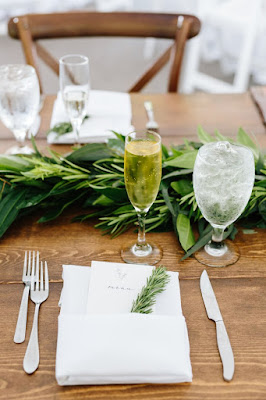 organic and earthy reception table place settings