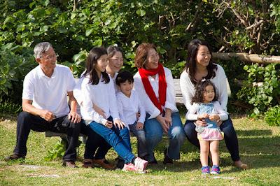 沖縄 還暦 家族写真
