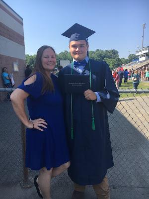 Austin and I at his High School Graduation