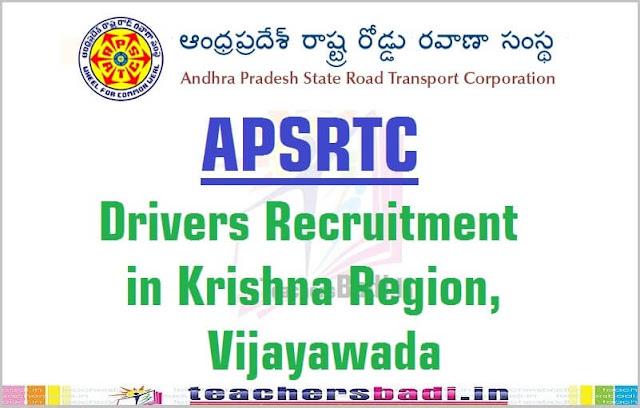 APSRTC,Drivers Recruitment,Krishna Region,Vijayawada