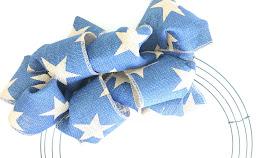 Blue Star Burlap