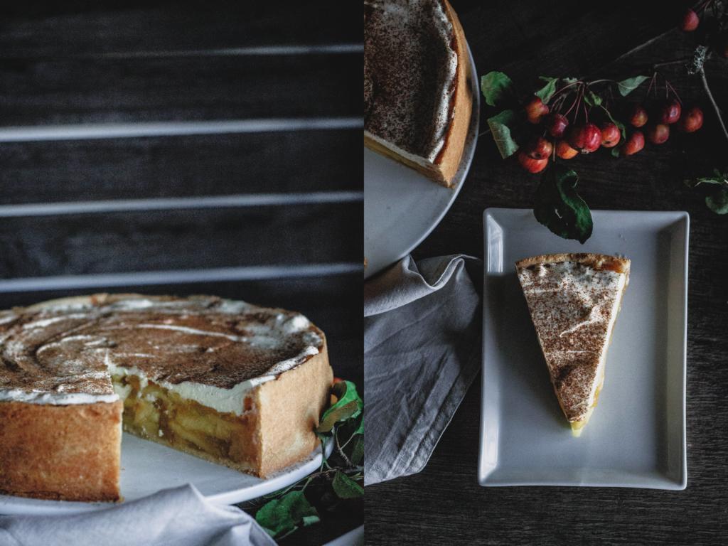 Angeschnittene Torte und ein Stück Torte