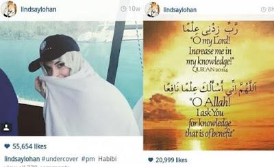 Lindsay, Lohan, kabar, artis, islam, muslim