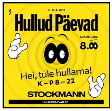 stockmann hullut päivät syksy 2014 lennot