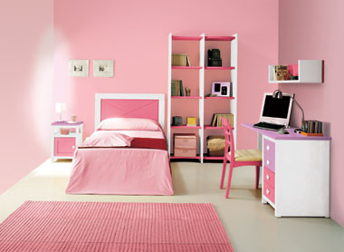 Decora el hogar dormitorios modernos color rosa - Habitaciones juveniles con estilo ...