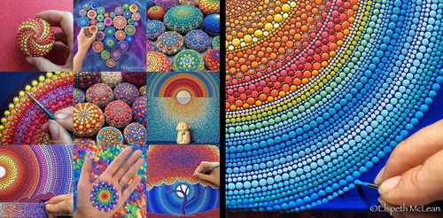 00-Elspeth-McLean-Dotillism-Paintings-Mandala-on-Stones-Canvas-and-Clothes-www-designstack-co