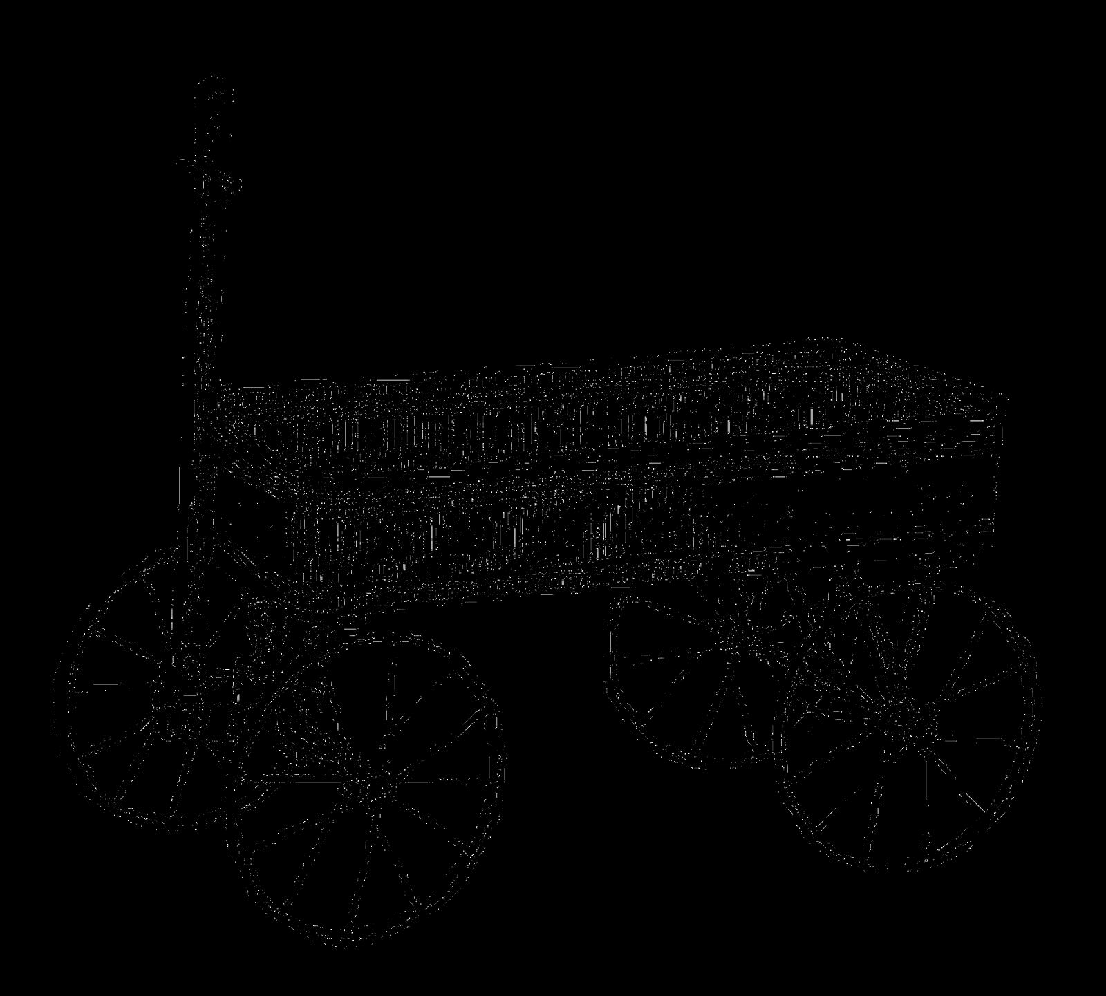 Antique Images Vintage Toy Wagon Digital Clip Art Image