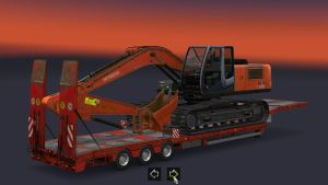 Trailer - Excavator with wider Crawlers