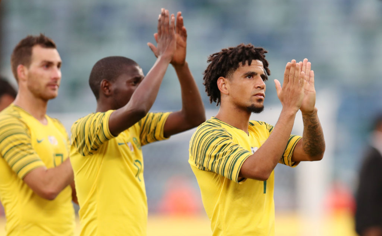 Dolly and his Bafana teammates thank the fans for their support