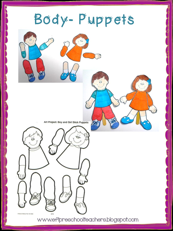 Esl Efl Preschool Teachers Body Theme For Preschool