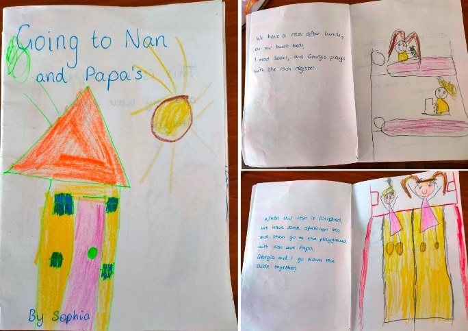 Visiting Nan and Papa's house - Sophia's little book
