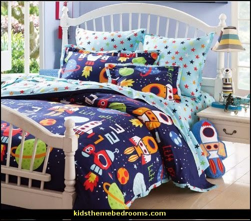 robots bedding  outer space theme bedroom decorating ideas rockets bedroom decor robots decor outer space bedroom decor