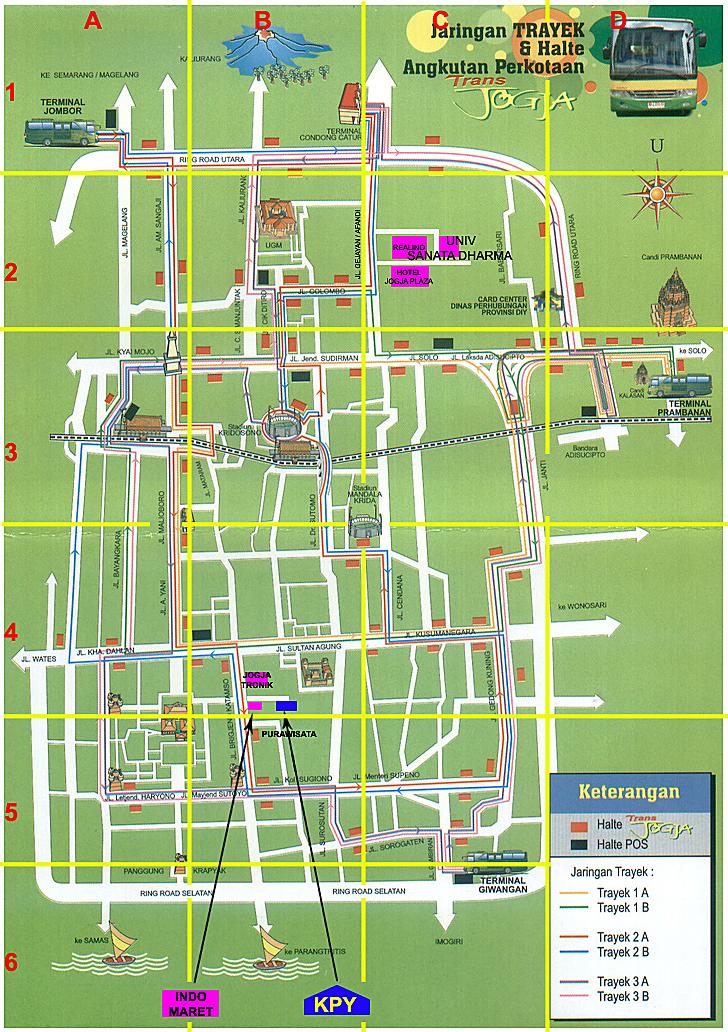 Balai Kota Yogyakarta Map