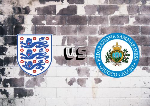 Inglaterra vs San Marino  Resumen y Partido Completo