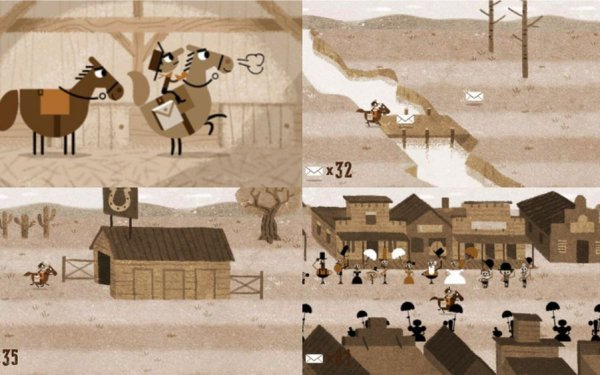 Google Doodle Games To Play Pony Express