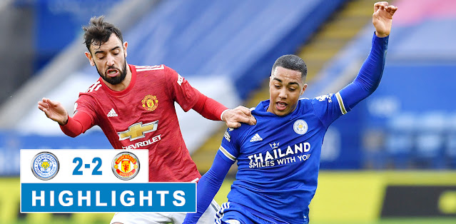 Leicester City vs Manchester United Highlights