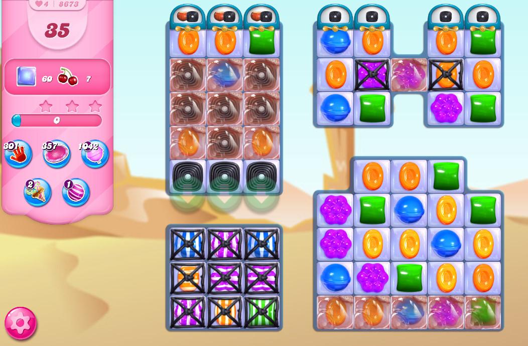 Candy Crush Saga level 8673