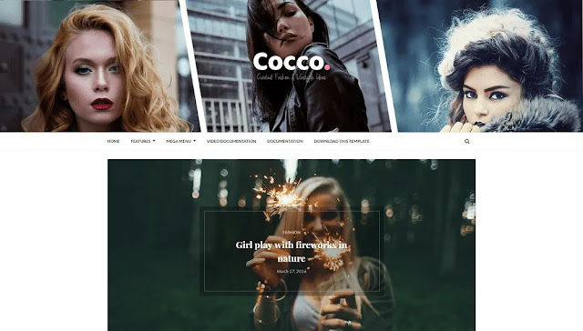 Cocco - A Responsive Stylish Blogger Template Free