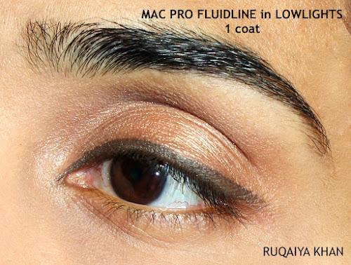 MAC Pro Longwear Fluidline Gel Eyeliner in Lowlights Review & Swatches
