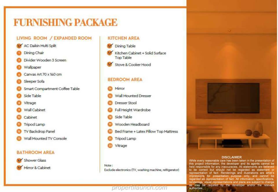 Paket Furniture Marigold BSD