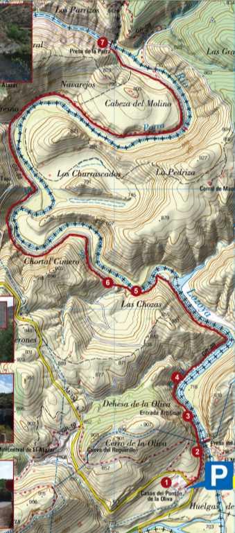 mapa ruta senderismo Pontón de la Oliva Madrid