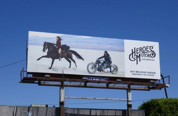 Heroes Motors LA billboard
