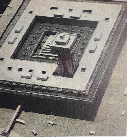 phối cảnh đồ án chợ Bến Thành 1971 nhìn từ trên xuống