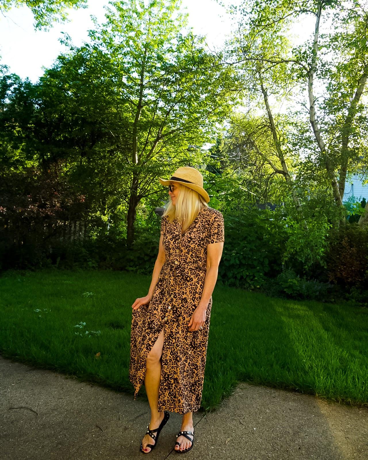 Artizia Leopard Print Shirt Dress