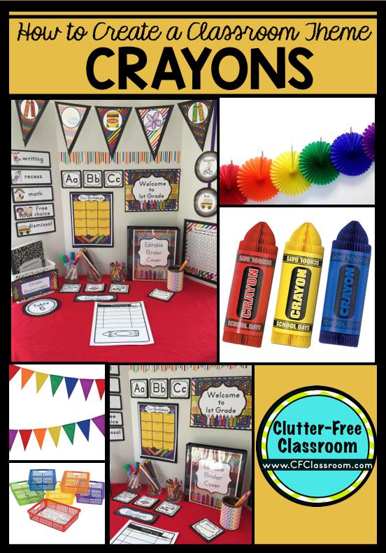 Crayons Themed Classroom - Ideas & Printable Classroom ...