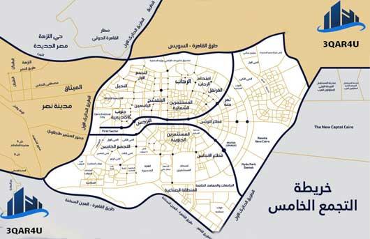 خريطة التجمع الخامس