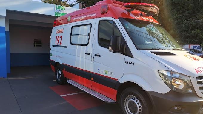 Mulher fica ferida em acidente entre carro e moto  na Vila Industrial em Toledo