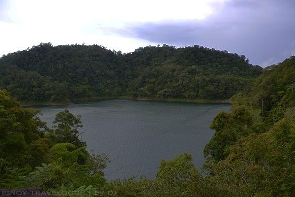 Lake Balinsasayao from the view deck