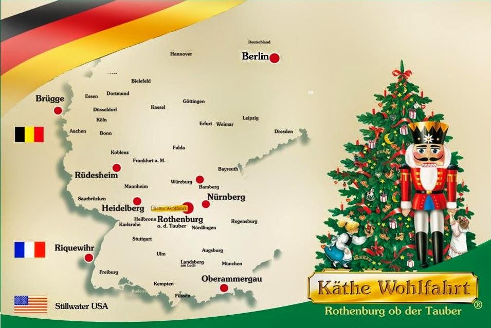 localização das lojas Käthe Wohlfahrt de decoração natalina