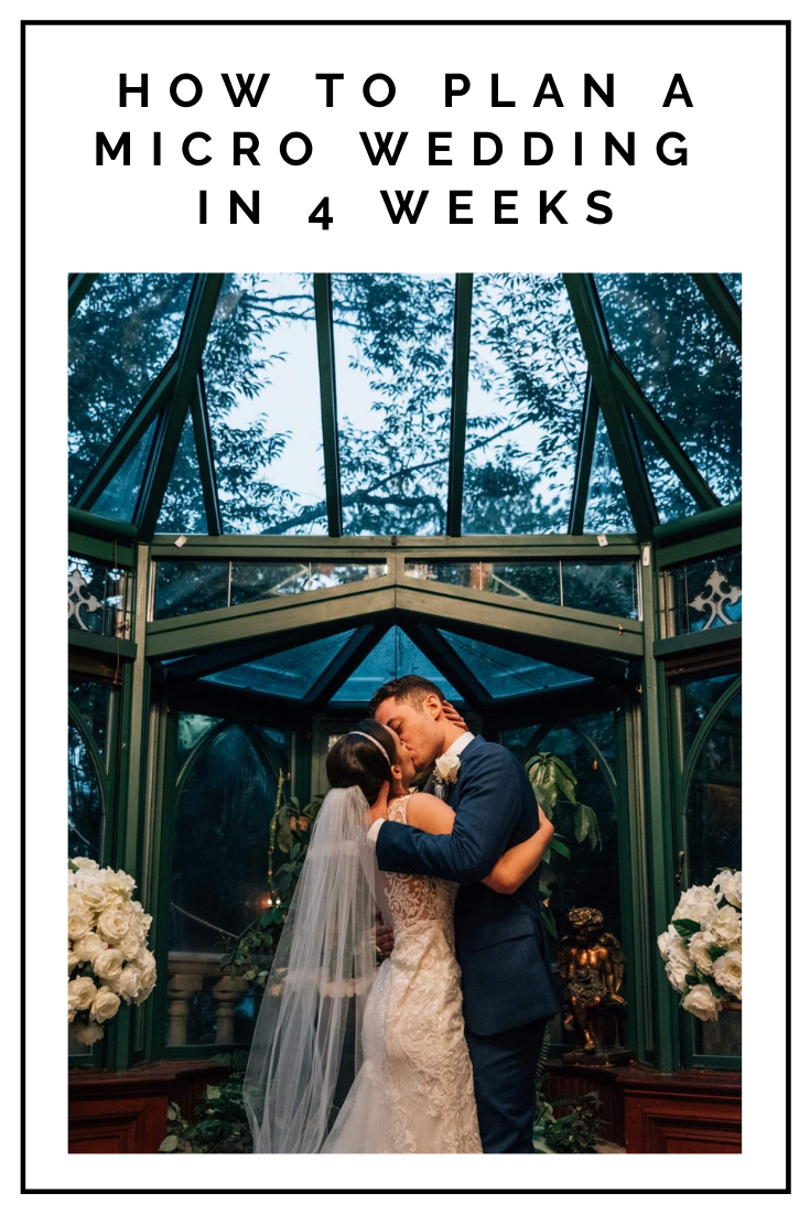 Click to read now or pin to save for later! Check out all the tips and timelines you need to know to plan a micro wedding in 4 weeks