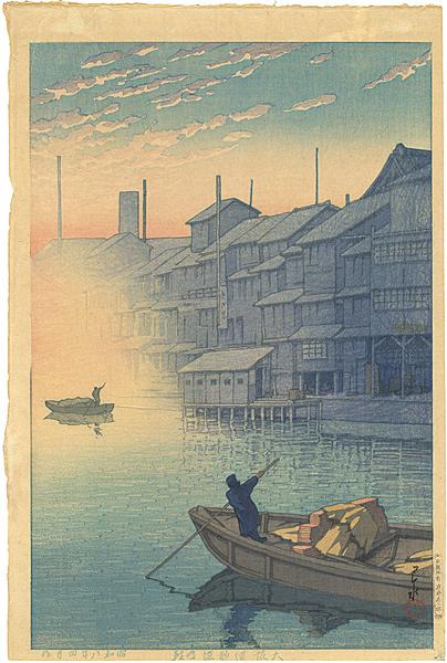 群馬の秘湯、法師温泉!昭和8年に描かれた新版画から全く変わっていない風景  大阪 道頓堀