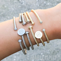 silver and gold bracelets