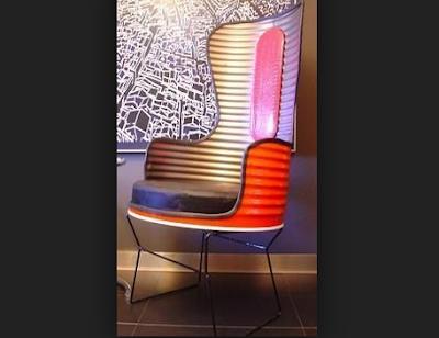 kursi cafe keren dari drum