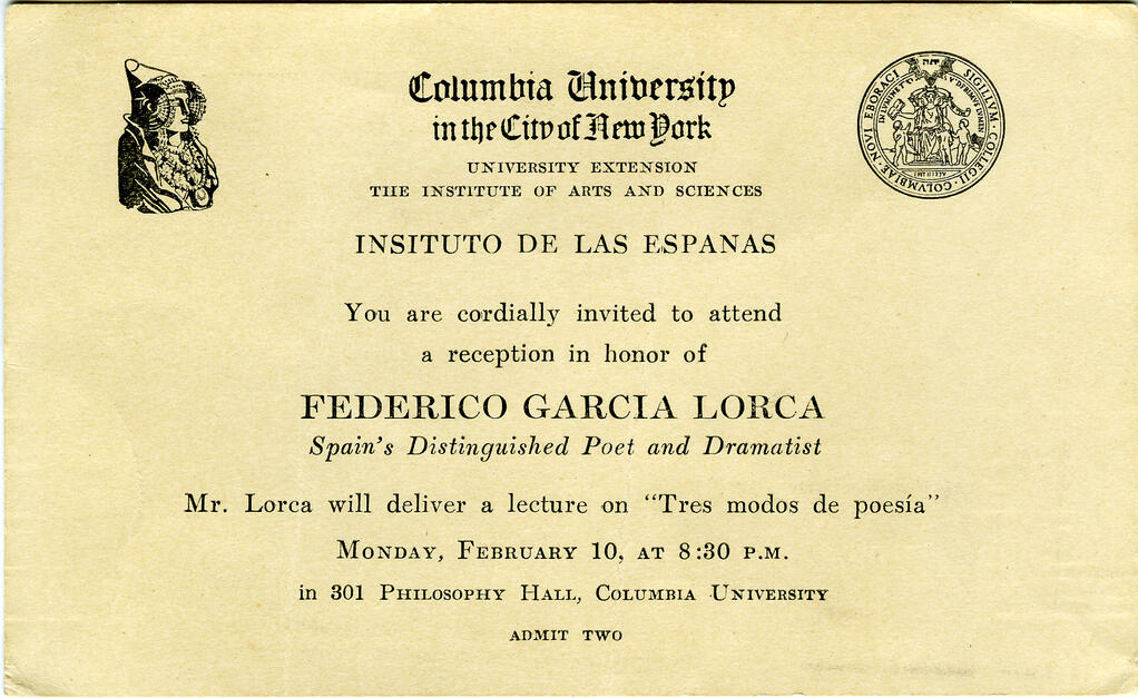 Hispanic New York: Lorca in New York: A Celebration