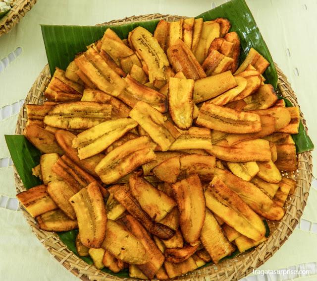 Banana frita, complemento do caruru de São Cosme na Bahia