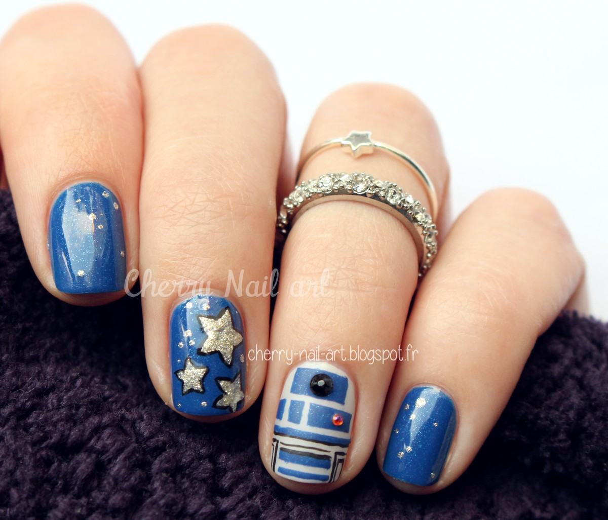 nail art star wars r2d2