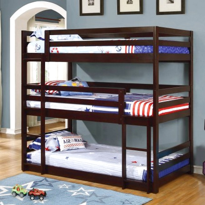 Triple Bunk Bed Save Room Space Yet Comfy Enough For Your Kids Room