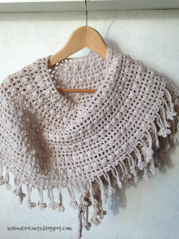 crochet crescent moon shawl