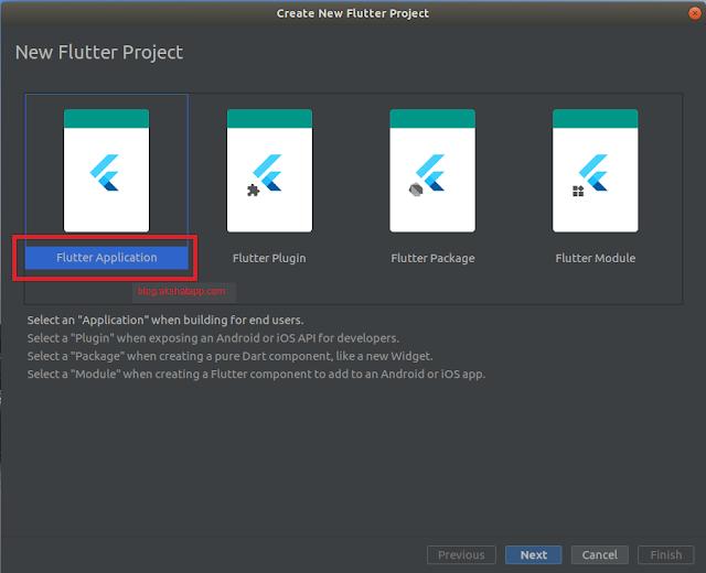 Android Studio - Flutter Application