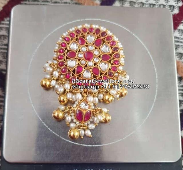 Exclusive Latest Silver Kundan Pendants
